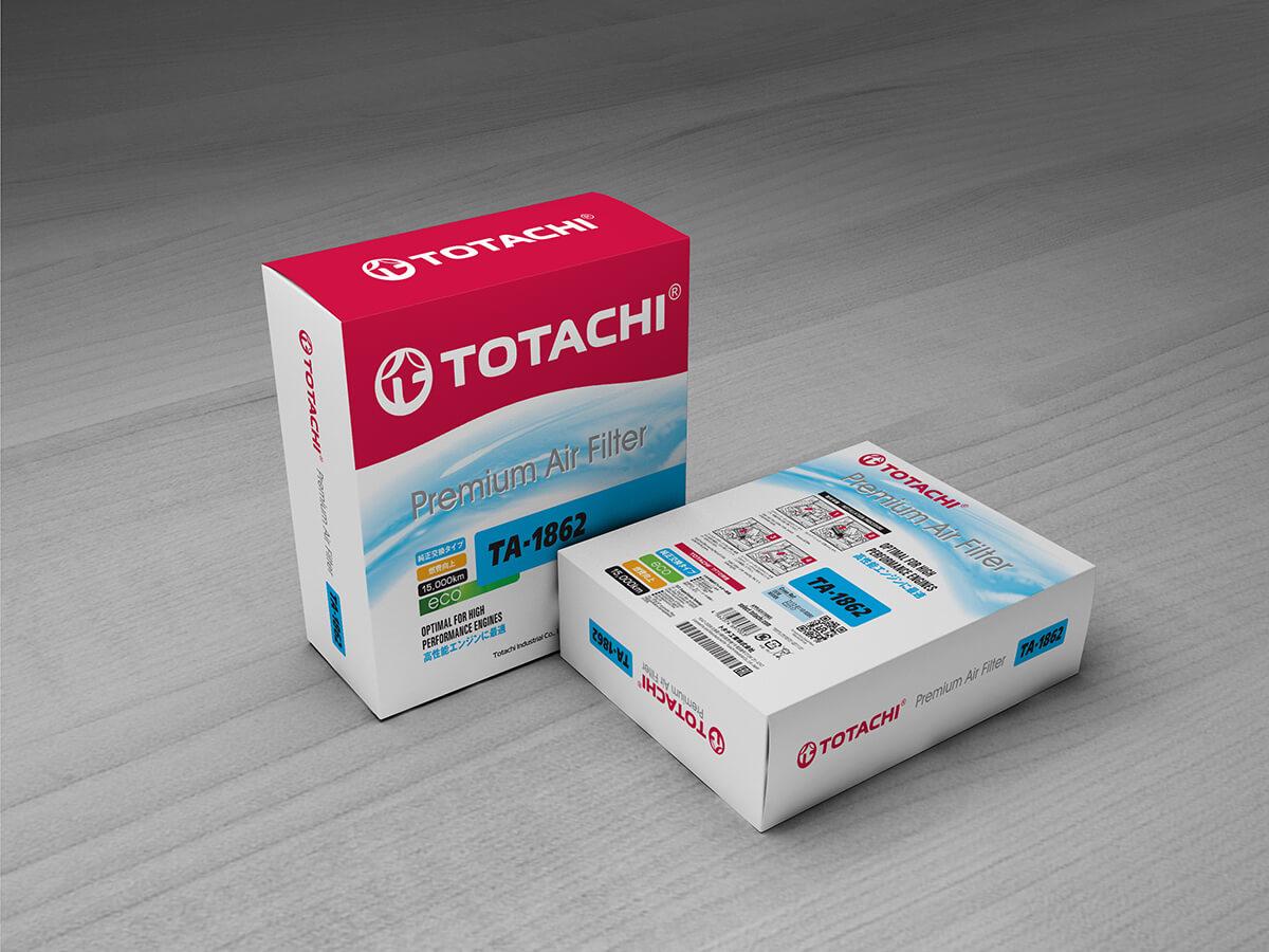 Изменение дизайна упаковки фильтров TOTACHI