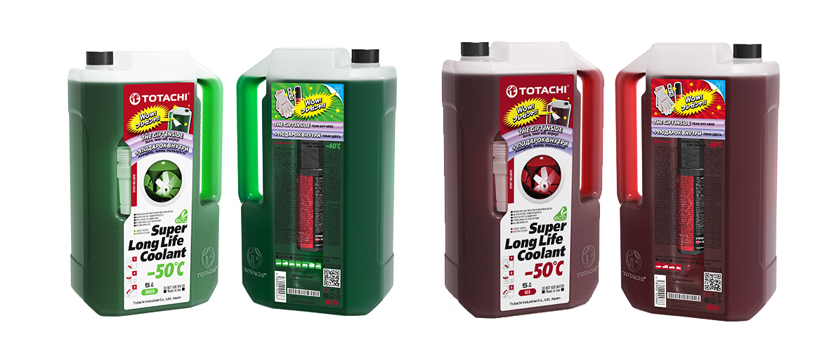 TOTACHI® SUPER LONG LIFE СOOLANT Green/Red -40C/-50C
